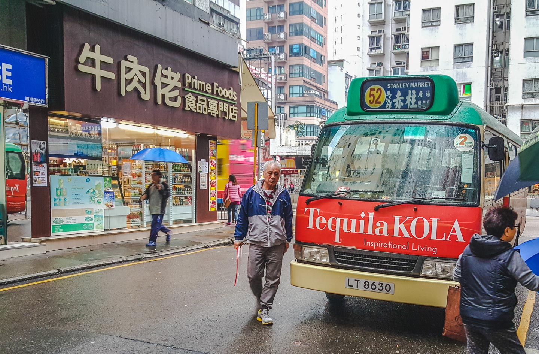 Minibuss i Hong Kong.