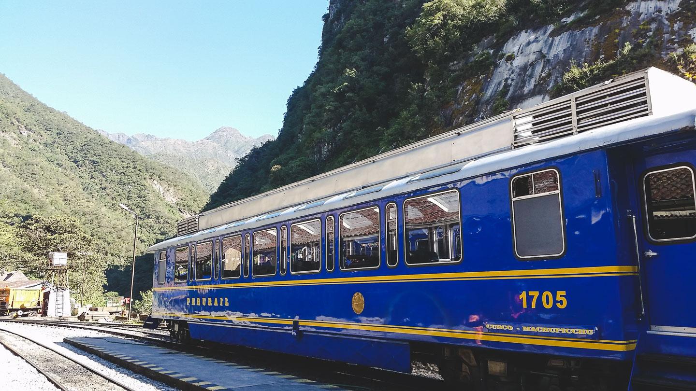 Tog fra Cusco til Aguas Calientes.