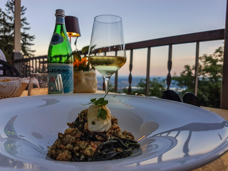 Middag på Albergo Colonne i Varese.