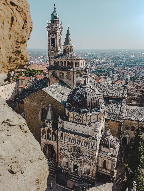 Utsikt fra Borgertårnet i Bergamo