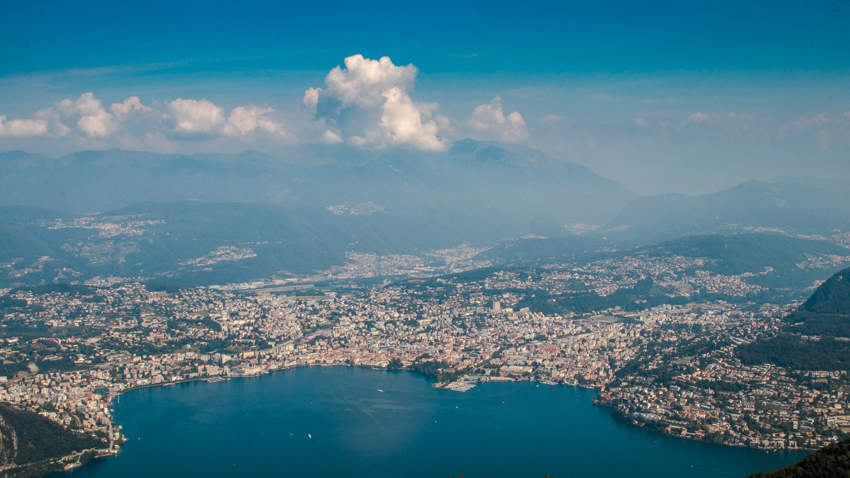 Lugano sett fra Sighignola.