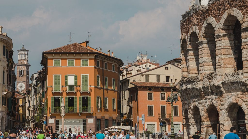 Piazza Bra i Verona.