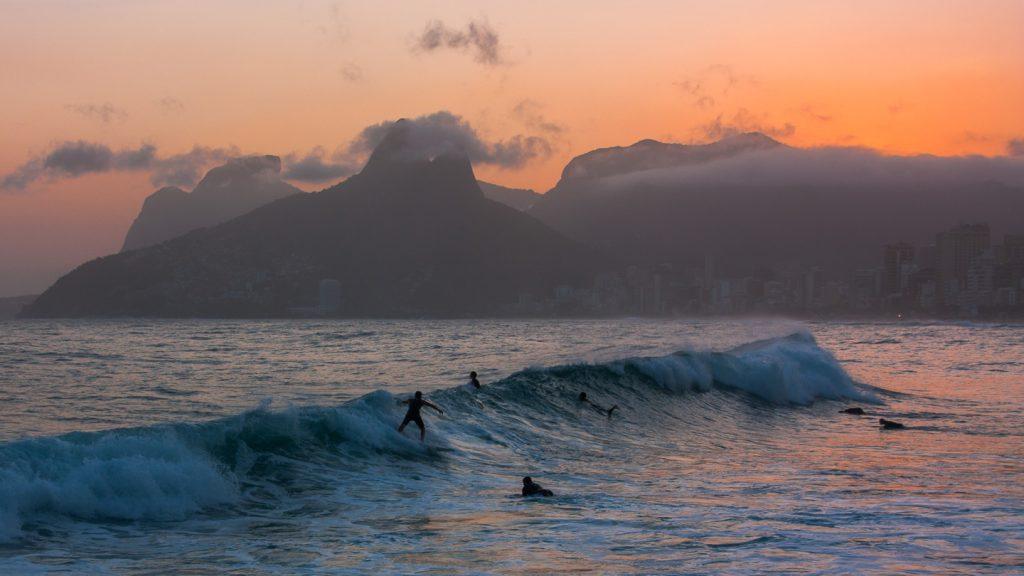 Morro dos Irmaos og Ipanema i Rio de Janeiro.